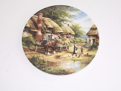 "Wedgwood Country Days Collectors Plate.""Mending the Thatch""."