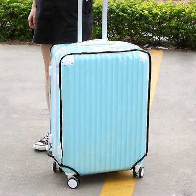 Waterproof Dustproof Rain Cover Clear Luggage Cover Travel Luggage 20 inch