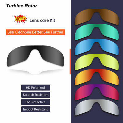 Polarized Replacement Lenses For-Oakley Turbine Rotor 9307 Sunglasses AU Stock