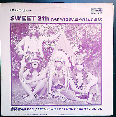 """THE SWEET 2th The wigwam-Willy Mix.Elusive UK 12"""" MAXI Single.Glam Rock"""