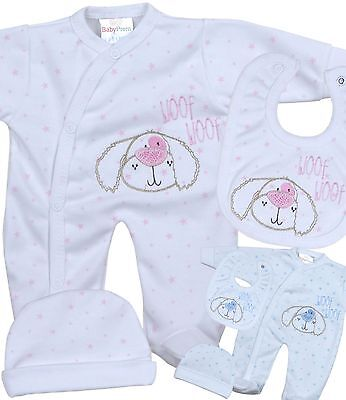 BabyPrem PREMATURE Baby Girls Boys Clothes 3 Piece Set Sleepsuit Bib & Hat 1-5LB