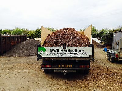 Woodchip Mulch 4 Cubic Metres, Border or Path Decor, Play Bark, Animal Bedding.