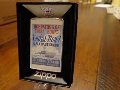 Uscg United States Coast Guard Recruiting Poster Wwii Zippo Lighter Mint 2017