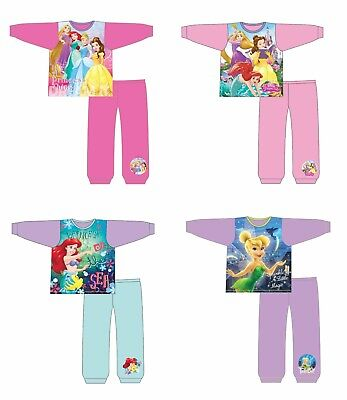 Girls Disney Tinkerbell Princess Belle Cinderella Ariel Nightwear Pyjamas 18m-5