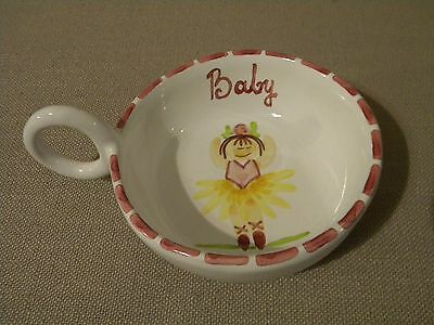 Terra Tam San Baby Girl Pottery Bowl Dish Never Used