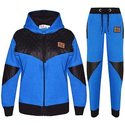 Kids Tracksuit Designer's Girls Boys A2Z Project Zipped Top Bottom Jogging Suit