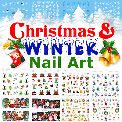 3 Pack Snowflake Nails Winter Water Decals Nail Decals Christmas Nail Stickers