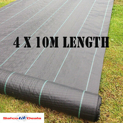 Yuzet 4 x 10m Weed Control Fabric Ground Cover Woven 100gsm lined Membrane New