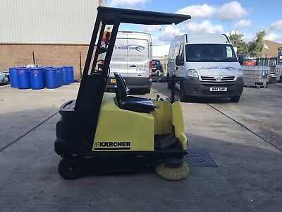 Karcher Kmr1250 Ride On Diesel Sweeper Excellent Condition