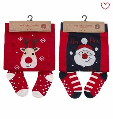 Babies Baby Girls Novelty Christmas Tights 6-24 Months Pantyhose
