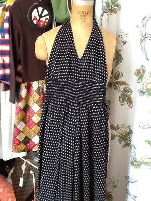Vintage 70s Kelly Arden Black With Silver Dots Jump Suit M-L