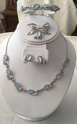 Vintage Alice Caviness Sterling Silver And Moon Stones Parure