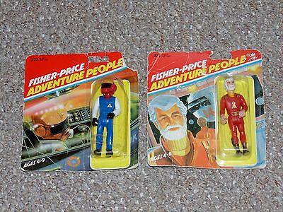 1979 Fisher Price Adventure People Supersonic Pilot & Space Commander Lot New