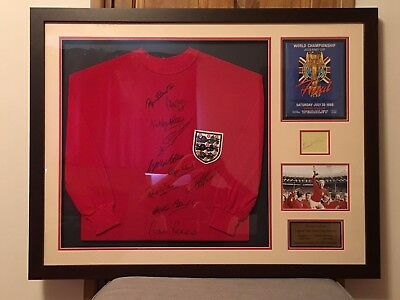 'They Think It's All Over' -  1966 World Cup Signed Shirt by all 11 Players