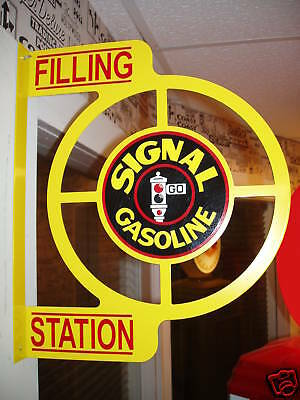 Signal Gasoline 50S  Wall Mount Flange Advertising Sign