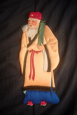 """Vintage Chinese Pa Hsien Oshie - Oshi-e - Doll #7 - 10"""" Textile 3D - Exquisite!"""