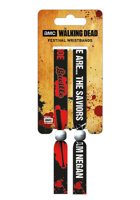The Walking Dead (The Saviors) Pack Of 2 Fabric Festival Wristbands BY PYRAMID