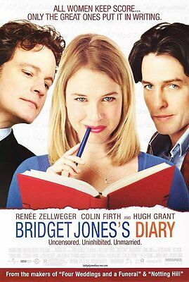 BRIDGET JONES'S DIARY MOVIE POSTER 2 Sided ORIGINAL 27x40 RENEE ZELLWEGER