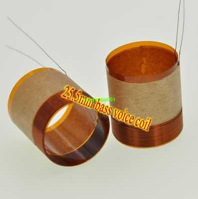 2pcs 25.5mm woofer voice coil pure copper wire Speaker repair parts