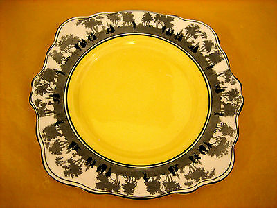 "Art Deco Foley China Silhouette Cake/sandwich Plate 9""   (0.5/463)"
