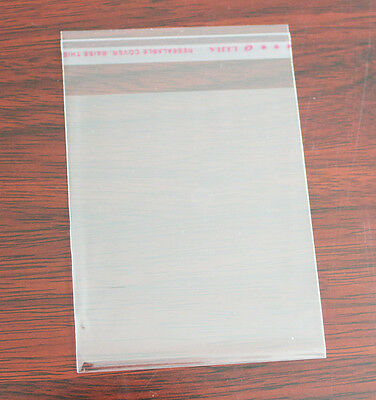"100pcs 8cmx12cm Self Adhesive Plastic Bag Clear Jewelry Packaging 3.1""x4.7"""