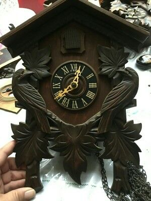 Angem Black Forest Cuckoo Clock **Missing Weights & Pendulum** For Restoration