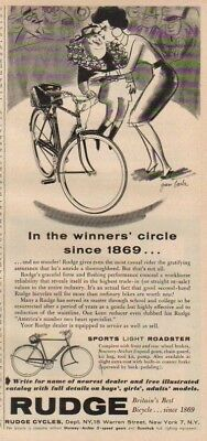 1956 Rudge Cycles New York NYC British Bicycle print Ad