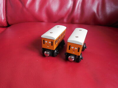wooden thomas the tank engine trains annie and clarabel coaches