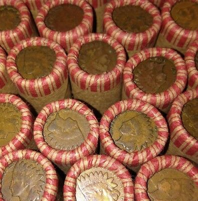 Unsearched Lincoln Wheat Cent Roll With Silver Mercury Dime & Indian Head Ends