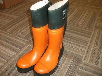 Chainsaw Boots Stihl Concept Size 45/ 10.5 UK Self Cleaning Orange & Green Boots