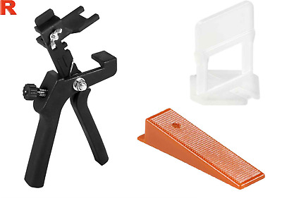 Italian 600 Tile Levelling System - 400 Clips Spacers 2mm + 200 Wedges +Plier