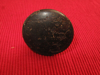 Antique Mahogany Empire Drawer Pull Wood Primitive Country Threaded Screw 1 7/8D