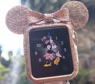 #Apple Watch #Rose Gold Glitter Case #Mickey Mouse Ears