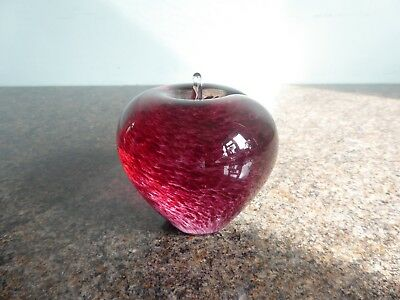 Wedgwood - Large - Glass Apple Paperweight