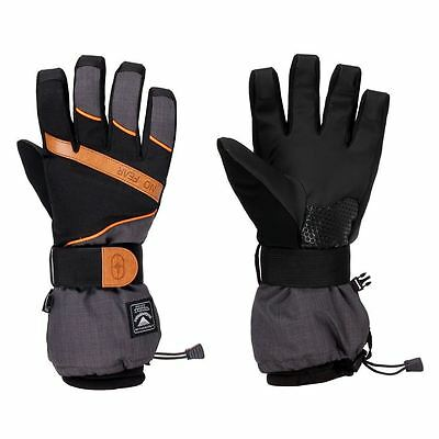 Adult MENS NO FEAR Professional WATERPROOF SKI GLOVES NEW Size L + XL RRP £39.99