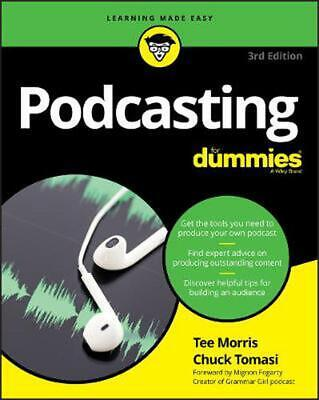 Podcasting for Dummies by Tee Morris Paperback Book Free Shipping!