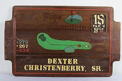 Vintage Wooden Tee Box Sign Bays Mountain Golf Course Country Club Man Cave Bar