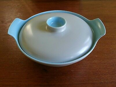 Poole Twin Tone Sky Blue & Dove Grey Tureen/Serving Dish.