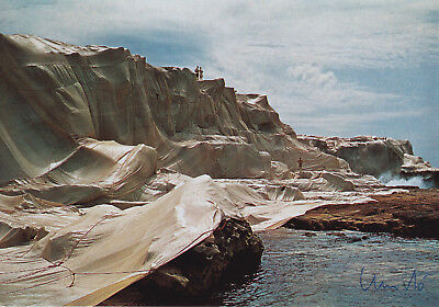 "CHRISTO (1935) ""Wrapped Coast, Sydney, 1969"" orig. sign. card / autograph"