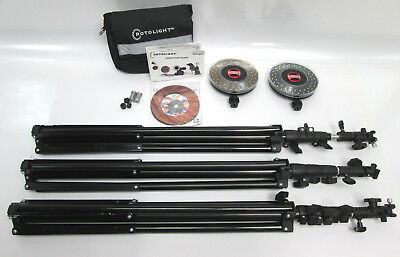 Rotolight Kit RL-48-B Stealth Edition with 3 stands and Stand Bagger model 8
