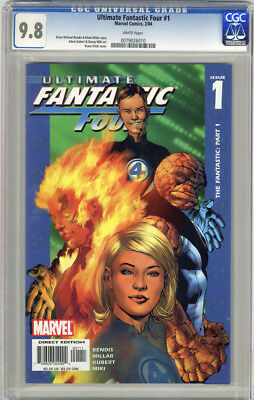 Ultimate Fantastic Four #1 First Printing White Pages Cgc 9.8 Nm/mt Unscratched