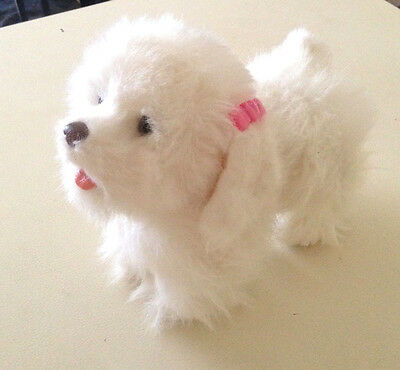 Furreal Friends White Maltese Walking Puppy Dog - Walks Barks Pants Whines