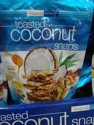 NEW Tropical Fields Toasted Coconut Snaps 320G from Fairdinks