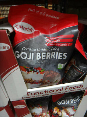 NEW Morlife Organic Goji Berries 1KG from Fairdinks