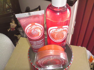 The Body Shop Frosted Cranberry Gift Set.FREE-MAILING.