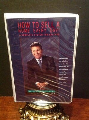 "Rick Deluca Audio Cassette Set ""How To Sell A Home Every Day! Real Estate"