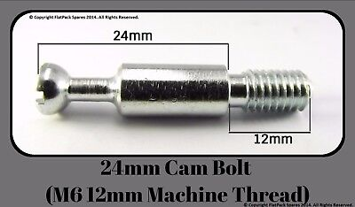Flat Pack Fittings Knockdown em 008 For 8mm Holes Double-Ended Cam Bolt