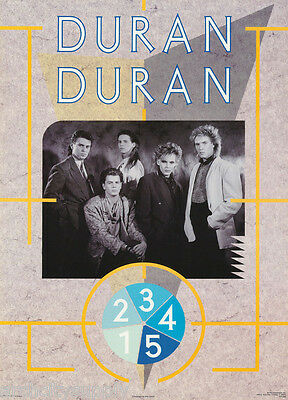 Lot Of 2 Posters :music :  Duran Duran  - All 5 Posed      #15-348    Lc17 J