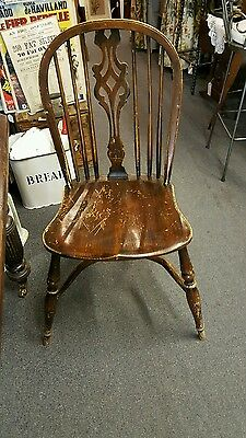 Set of four Old Charm 'windsor' chairs