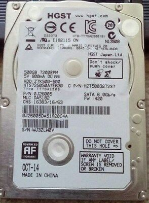 NEW Other HGST Hard Disk Drive 500GB HDD 2.5'' Sata for Laptops 7200RPM